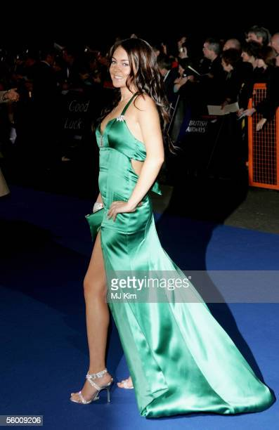 Actress Lacey Turner arrives at the National Television Awards 2005 at the Royal Albert Hall on October 25 2005 in London England