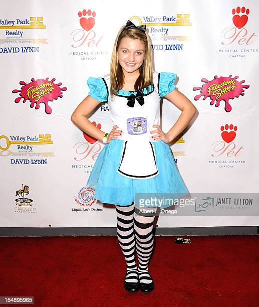 Actress Laci Kay arrives for Angels In Fur Dog Rescue Raise The Woof Halloween Party Hosted By Debra Wilson held at Smooth Sound Multimedia Studio on...