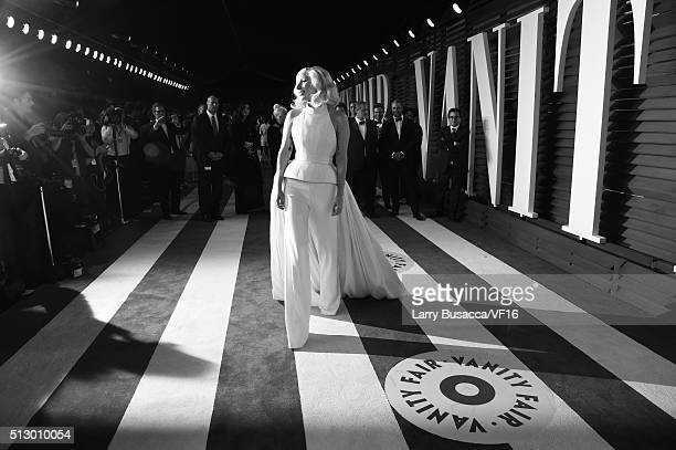 Actress Lady Gaga attends the 2016 Vanity Fair Oscar Party hosted by Graydon Carter at Wallis Annenberg Center for the Performing Arts on February 28...