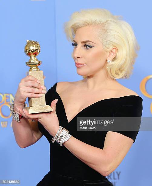 Actress Lady Gaga winner of Best Performance by an Actress in a Limited Series or a Motion Picture Made for Television for American Horror Story...