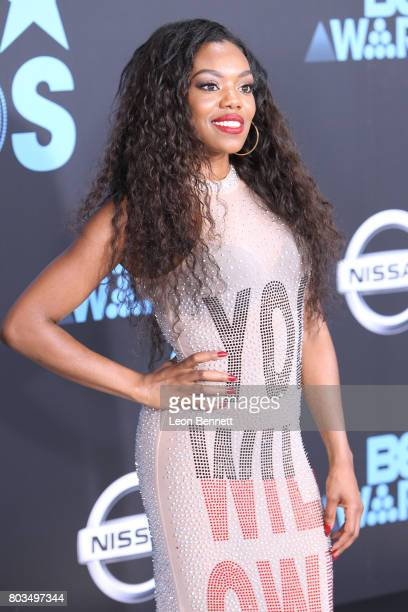 Actress Lady Leshurr arrives at the 2017 BET Awards at Microsoft Theater on June 25 2017 in Los Angeles California