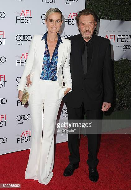 Actress Laeticia Hallyday and singer Johnny Hallyday arrive at AFI FEST 2016 Presented By Audi Opening Night Premiere Of 20th Century Fox's 'Rules...