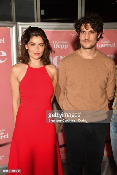 Actress Laetitia Casta and Director Louis Garrel attend L'Homme Fidele Paris Premiere at Mk2 Bibliotheque on December 17 2018 in Paris France