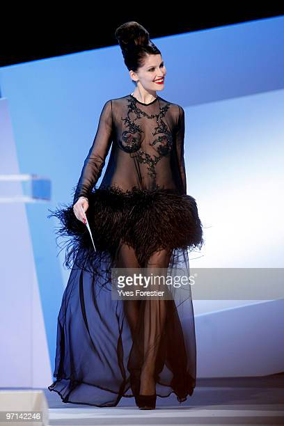 Actress Laetitia Casta arrives onstage during the 35th Cesar Film Awards held at Theatre du Chatelet on February 27 2010 in Paris France