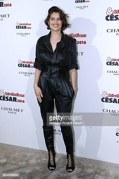 Actress Laetitia Casta attends the 'Cesar Revelations 2016' Photocall at Chaumet followed by a dinner at Hotel Meurice on January 11 2016 in Paris...