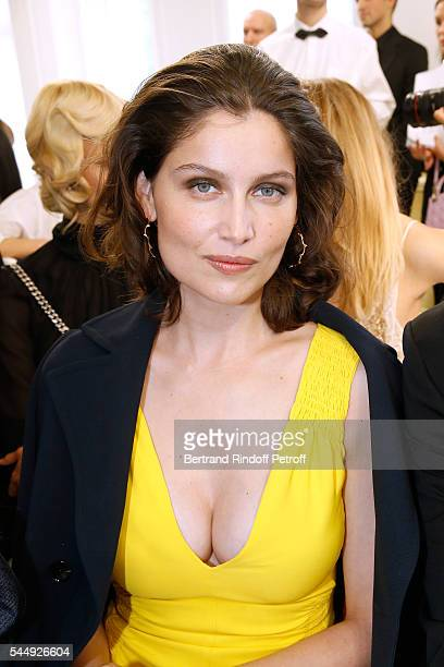 Actress laetitia Casta attends the Christian Dior Haute Couture Fall/Winter 20162017 show as part of Paris Fashion Week on July 4 2016 in Paris France