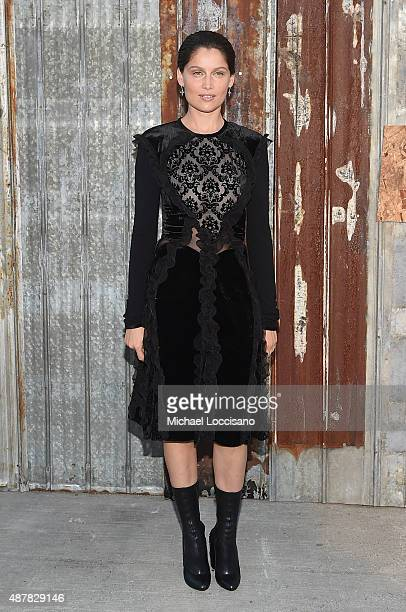 Actress Laetitia Casta attends the Givenchy fashion show during Spring 2016 New York Fashion Week at Pier 26 at Hudson River Park on September 11...
