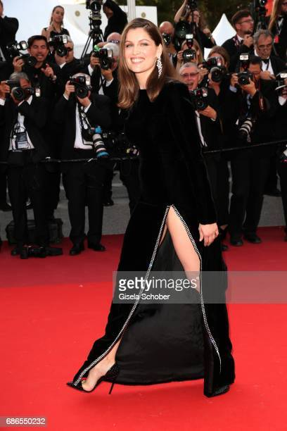 Actress Laetitia Casta attends The Meyerowitz Stories premiere during the 70th annual Cannes Film Festival at Palais des Festivals on May 21 2017 in...