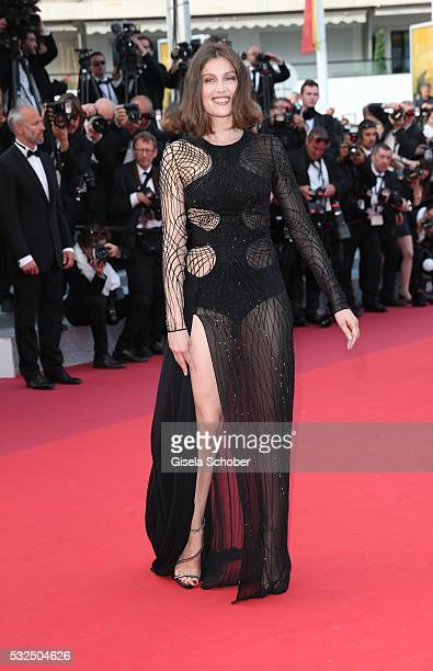 """Actress Laetitia Casta attends """"The Unknown Girl """" Premiere during the 69th annual Cannes Film Festival at the Palais des Festivals on May 18, 2016..."""