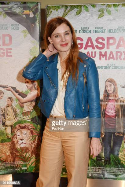 Actress Laetitia Dosch attends the 'Gaspard va au mariage' premiere at UGC Cine Cite des Halles on January 29 2018 in Paris France