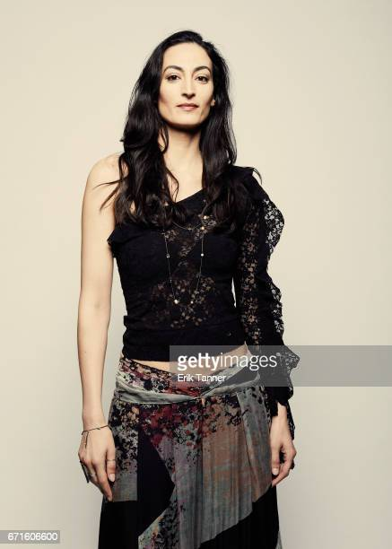 Actress Laetitia Eido from 'Holy Air' poses at the 2017 Tribeca Film Festival portrait studio on April 22 2017 in New York City