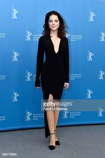 Actress Laetitia IsambertDenis attends the 'Boris without Beatrice' photo call during the 66th Berlinale International Film Festival Berlin at Grand...