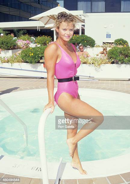 Actress LaGena Hart attends the Third Annual Bastille Day 8K Race to Benefit the United Cerebral Palsy PreRace Day Pasta Party on July 11 1987 at Le...
