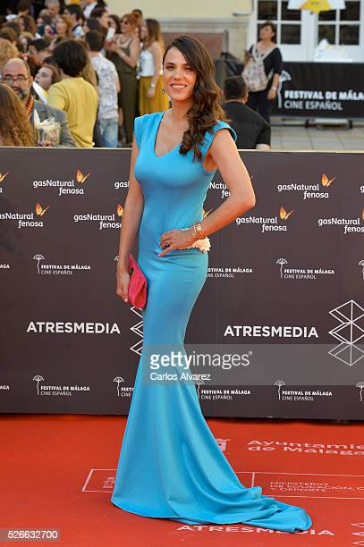 Actress Laia Alemany attends Nuestros Amantes premiere at the Cervantes Teather during the 19th Malaga Film Festival on April 30 2016 in Malaga Spain