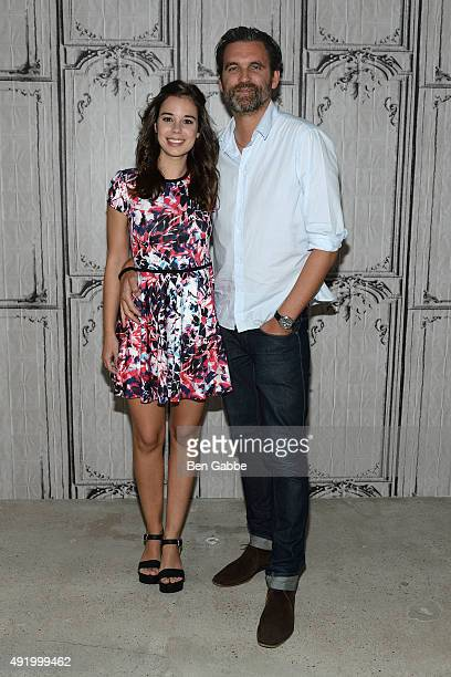 Actress Laia Costa and filmmaker Sebastian Schipper attend AOL Build presents Victoria at AOL Studios In New York on October 9 2015 in New York City