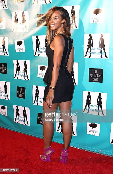 Actress Laila Odom arrives at Laura Govan's Birthday Party by NBA Star Gilbert Arenas on September 21 2013 in Beverly Hills California