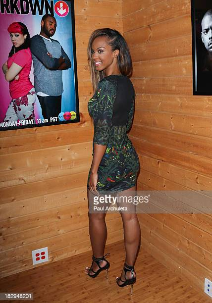 Actress Laila Odom attends Bounce TV media day for BRKDWN and My Crazy Roommate on October 2 2013 in Van Nuys California