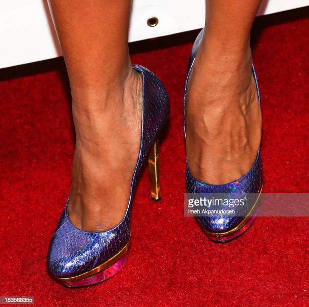 Actress Laila Odom attends the closing night for the Hollywood Black Film Festival at The Ricardo Montalban Theatre on October 6 2013 in Hollywood...