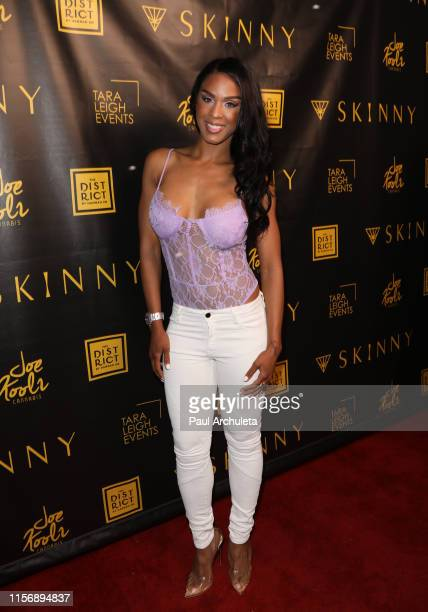 Actress Laila Odom attends the launch of Donna D'Errico's Skinny Cannabis Vape at The District by Hannah An on June 18 2019 in Los Angeles California