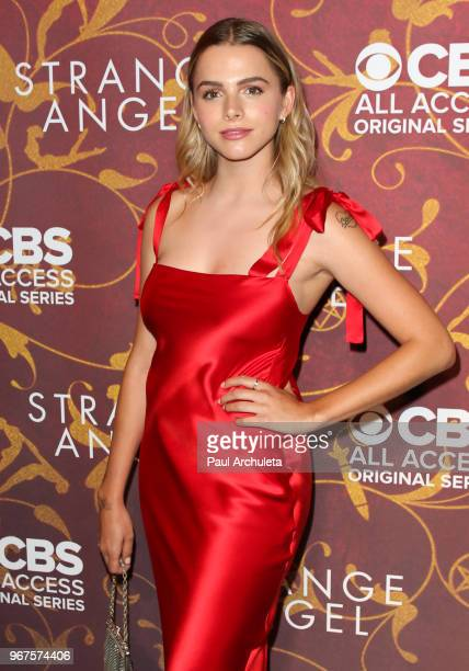 Actress Laine Neil attends the premiere of CBS All Access' 'Strange Angel' at Avalon on June 4 2018 in Hollywood California