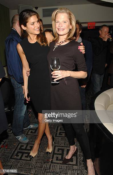 Actress Lake Bell and designer Robin Bell attend a party for Robin Bell at STK on October 15 2007 in New York City