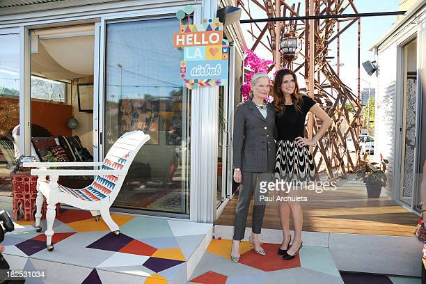 Actress Lake Bell and her Mother Robin Bell host Airbnb Hello LA with celebrity designed PopUps at The Arts District on September 29 2013 in Los...