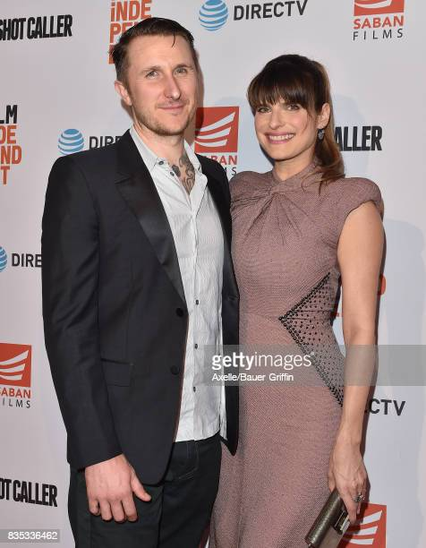 Actress Lake Bell and husband Scott Campbell arrive at the premiere of 'Shot Caller' at The Theatre at Ace Hotel on August 15, 2017 in Los Angeles,...