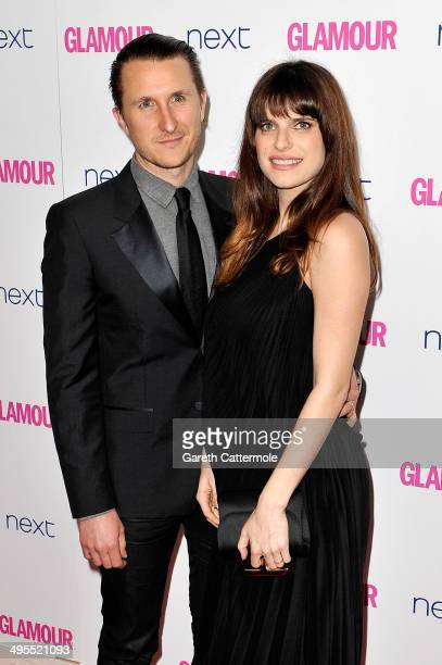 Actress Lake Bell and husband Scott Campbell attend the Glamour Women of the Year Awards at Berkeley Square Gardens on June 3 2014 in London England