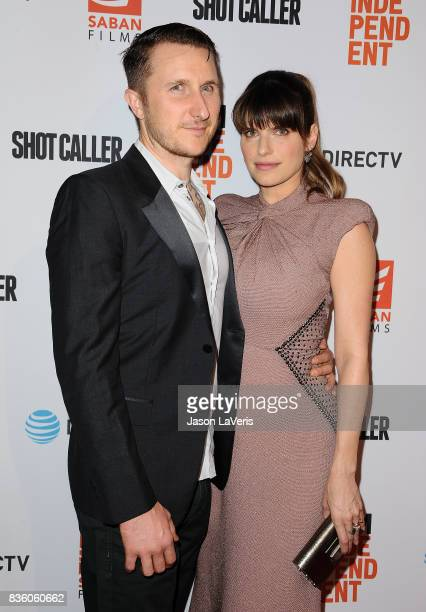 Actress Lake Bell and husband Scott Campbell attend the premiere of Shot Caller at The Theatre at Ace Hotel on August 15 2017 in Los Angeles...