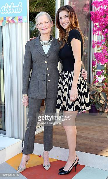 Actress Lake Bell and mother designer Robin Bell attend Airbnb presents Hello LA Day 3 in The Arts District on September 29 2013 in Los Angeles...