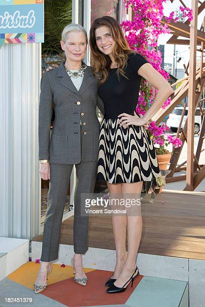 Actress Lake Bell and mother designer Robin Bell attend the Airbnb presents Hello LA with celebrity designed pop ups Lake Bell and Robin Bell at The...