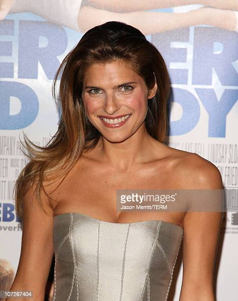 Actress Lake Bell and singer Michael Bolton arrive at 'Over Her Dead Body' Los Angeles premiere at the ArcLight Hollywood Theatre on January 29 2008...