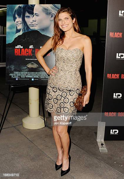 Actress Lake Bell arrives at the Los Angeles Premiere 'Black Rock' at ArcLight Hollywood on May 8 2013 in Hollywood California