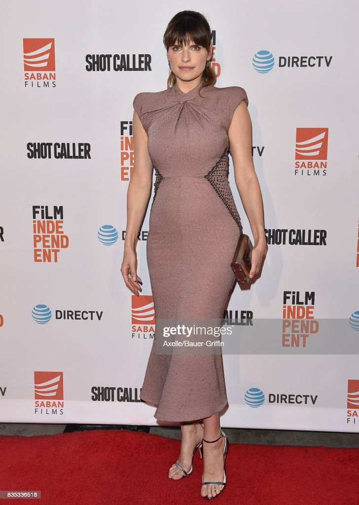 Actress Lake Bell arrives at the premiere of 'Shot Caller' at The Theatre at Ace Hotel on August 15, 2017 in Los Angeles, California.