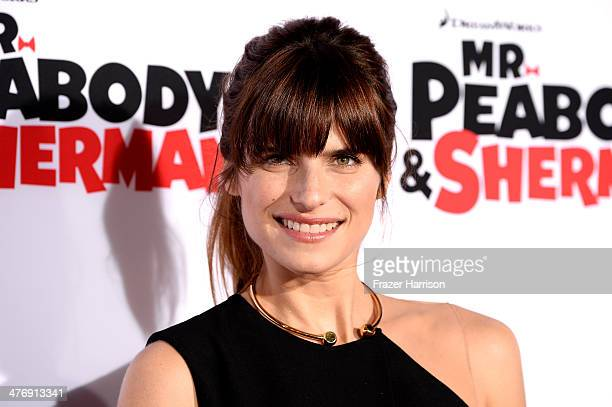 Actress Lake Bell arrives at the Premiere of Twentieth Century Fox and DreamWorks Animation's Mr Peabody Sherman at Regency Village Theatre on March...