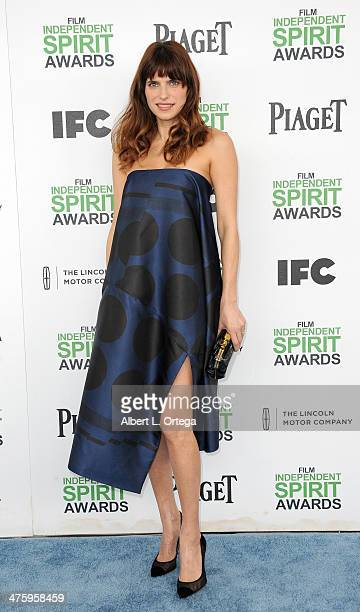Actress Lake Bell arrives for the 2014 Film Independent Spirit Awards held at the beach on March 1 2014 in Santa Monica California