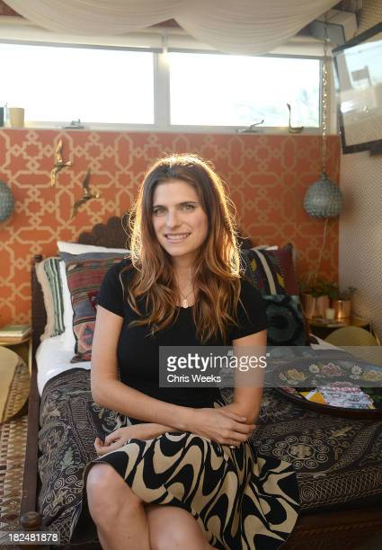 Actress Lake Bell at Airbnb's Hello LA event in The Arts District at on September 29 2013 in Los Angeles California