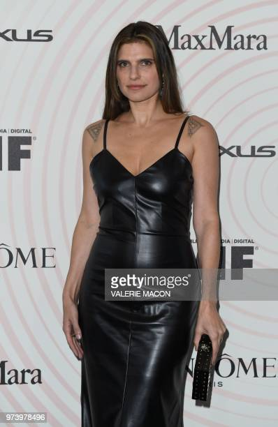US actress Lake Bell attends the 2018 Women in Film Crystal Lucy Awards at the Beverly Hilton hotel in Beverly Hills on June 13 2018