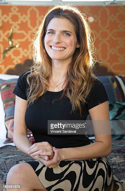 Actress Lake Bell attends the Airbnb presents Hello LA with celebrity designed pop ups Lake Bell and Robin Bell at The Arts District on September 29...