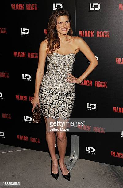 Actress Lake Bell attends the 'Black Rock' Premiere held at ArcLight Hollywood on May 8 2013 in Hollywood California