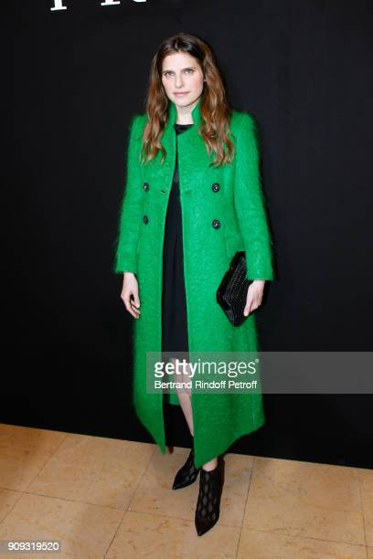 Actress Lake Bell attends the Giorgio Armani Prive Haute Couture Spring Summer 2018 show as part of Paris Fashion Week on January 23 2018 in Paris...