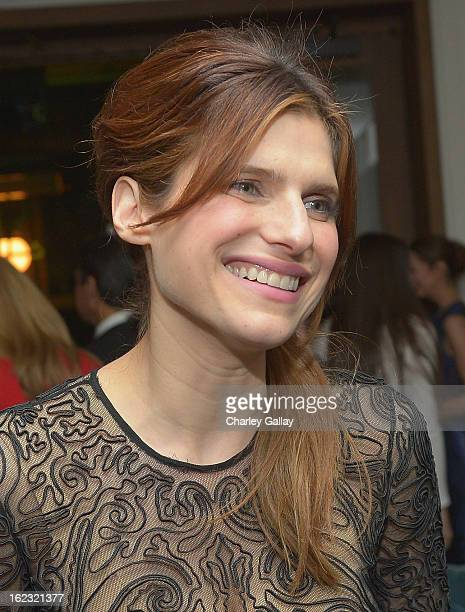 "Actress Lake Bell attends Vanity Fair and the Fiat brand Celebration of ""Una Notte Verde"" with Hans Zimmer and Ron Howard in support of The United..."