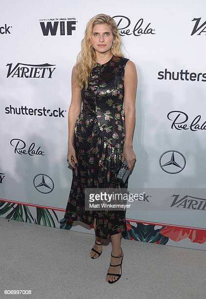 Actress Lake Bell attends Variety and Women in Film's PreEmmy Celebration at Gracias Madre on September 16 2016 in West Hollywood California