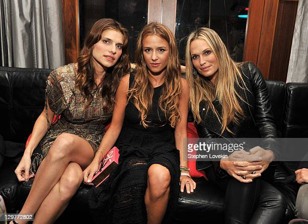Actress Lake Bell Designer Charlotte Ronson and Molly Sims attend eBay and Jonathan Adler's launch of the Inspiration Shop at the Gansevoort Park...