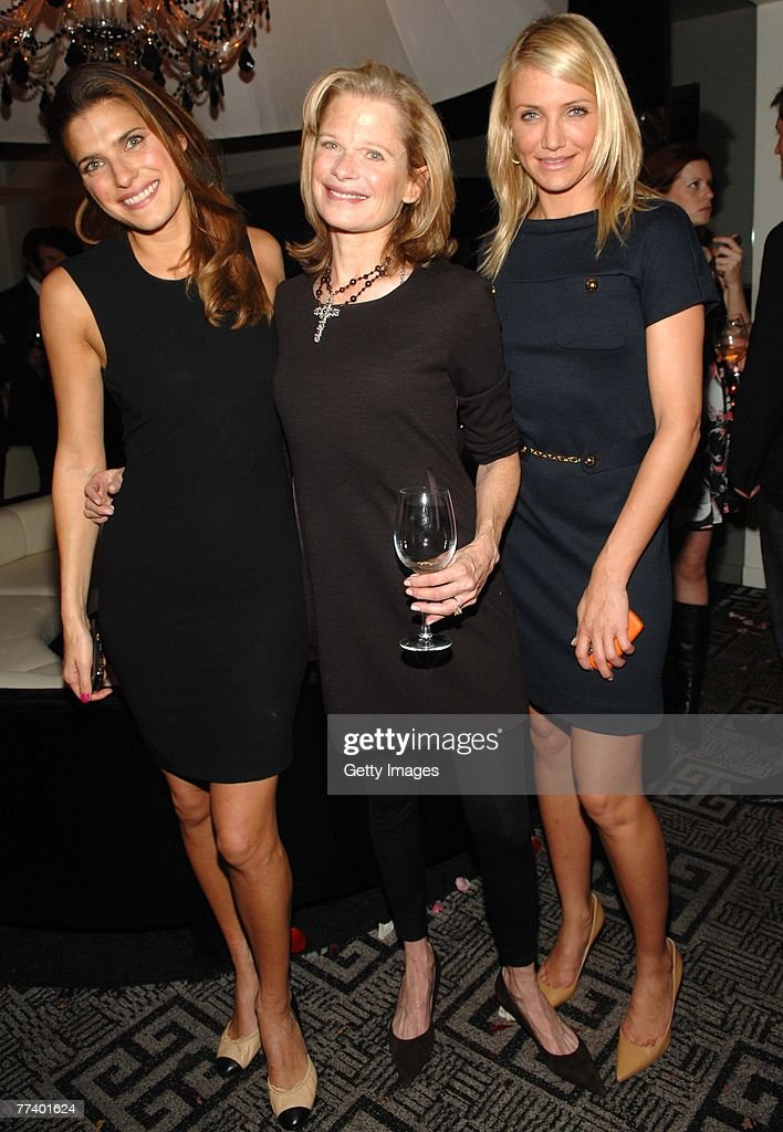 Actress Lake Bell Designer Robin And Cameron Diaz Attend A Party For