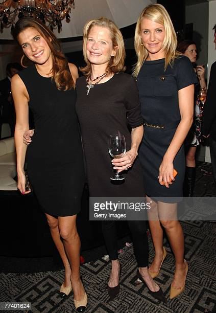Actress Lake Bell designer Robin Bell and actress Cameron Diaz attend a party for Robin Bell at STK on October 15 2007 in New York City