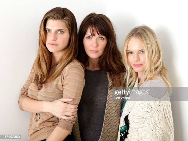 Actress Lake Bell director Katie Aselton and actress Kate Bosworth pose for a portrait during the 2012 Sundance Film Festival at the WireImage...