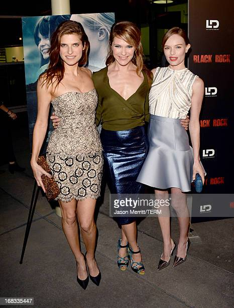 Actress Lake Bell director/producer Katie Aselton and actress Kate Bosworth attend the screening of LD Entertainment's Black Rock at ArcLight...