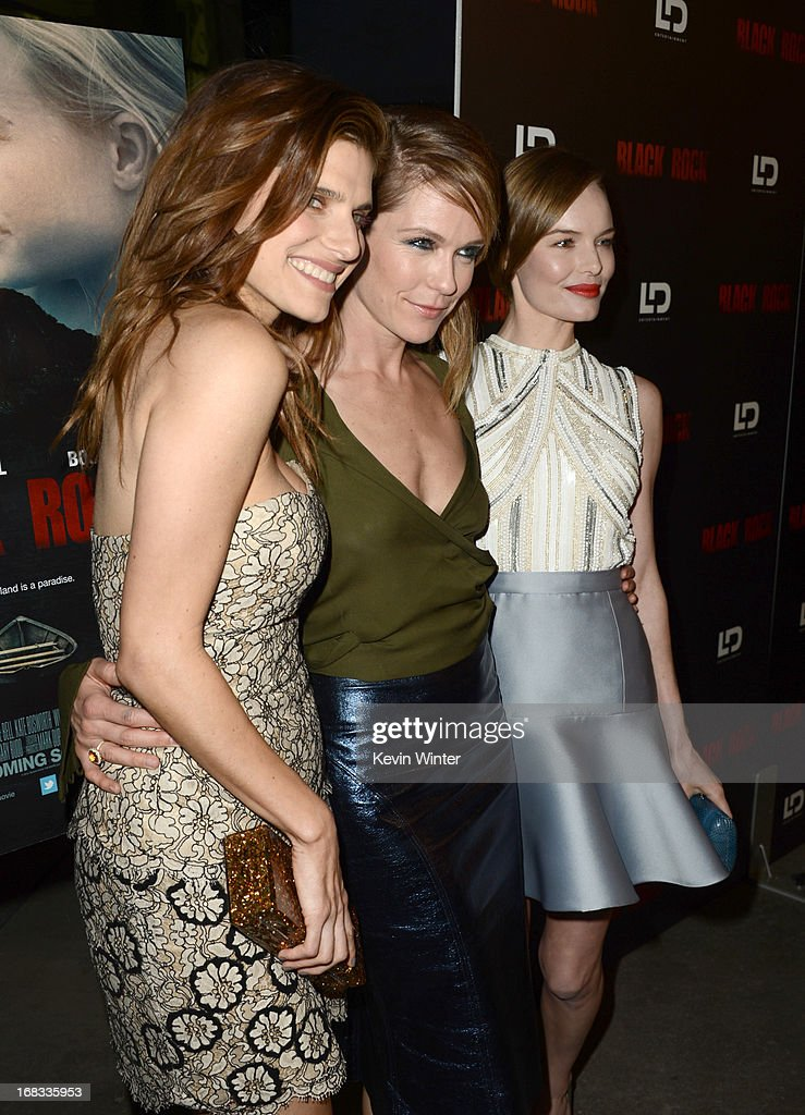 Actress Lake Bell, director/producer Katie Aselton, and actress Kate Bosworth attend the screening of LD Entertainment's 'Black Rock' at ArcLight Hollywood on May 8, 2013 in Hollywood, California.
