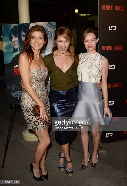 Actress Lake Bell director/producer Katie Aselton and actress Kate Bosworth attend the screening of LD Entertainment's 'Black Rock' at ArcLight...